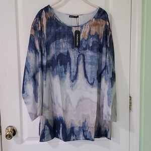 3XL Work Top -  Long sleeve. New with Tags